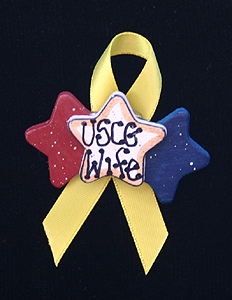 Triple Star Yellow Pin, USCG Wife