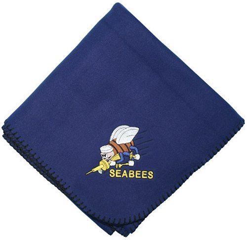 SEABEE Logo Embroidered Stadium Blanket