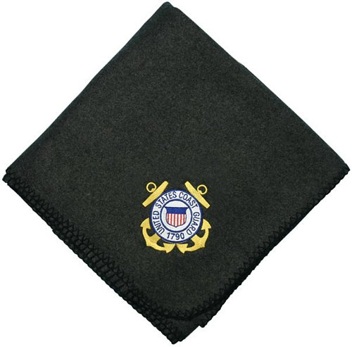 U.S. Coast Guard Crest Embroidered Stadium Blanket