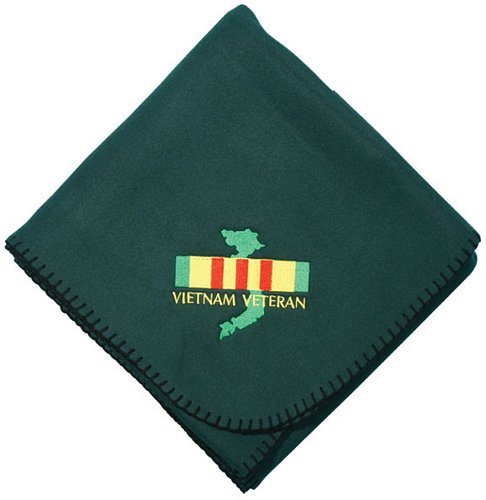 Vietnam Vet Ribbon w/Map Embroidered Stadium Blanket