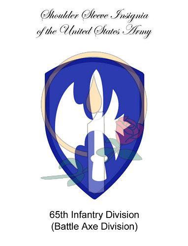SSI Card, 65th Infantry