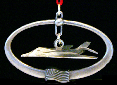 Pewter F-117 Stealth Ornament