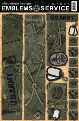 Sticker Sheet, Army EoS