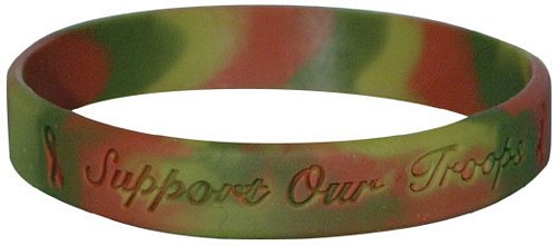 Support Our Troops Camo Silicone Bracelet