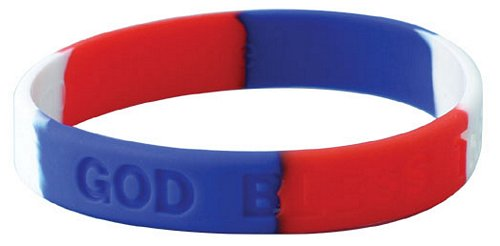 God Bless the USA RWB Silicone Bracelet