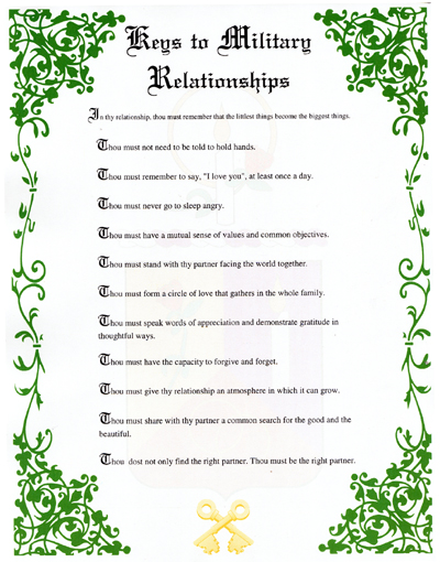 Keys to Military Relationships