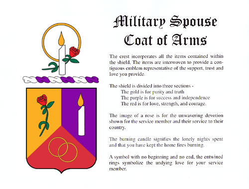 certificate coat arms crest militarywives coa cert