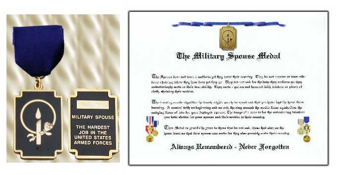 Military Spouse Medal