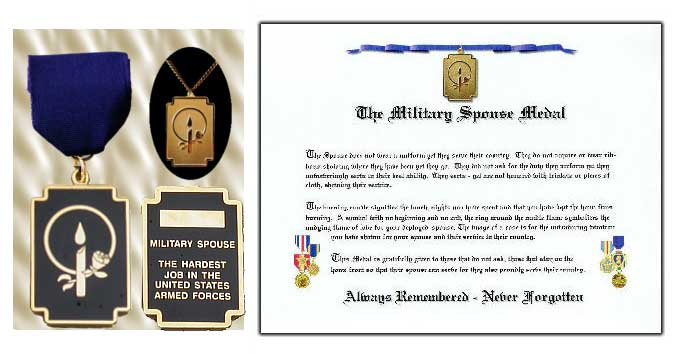 Military Spouse Medal w/ necklace