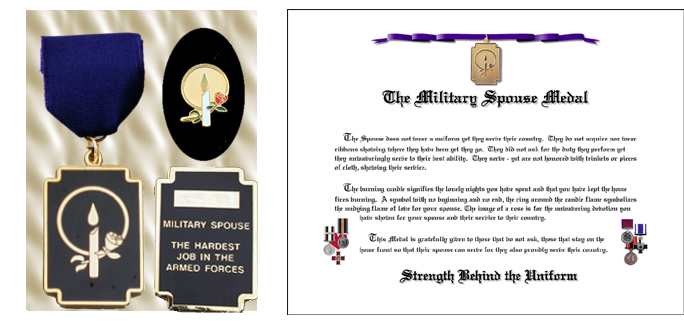 Military Spouse Medal w/ Lapel Pin CANADIAN