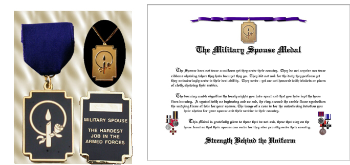 Military Spouse Medal w/ necklace CANADIAN