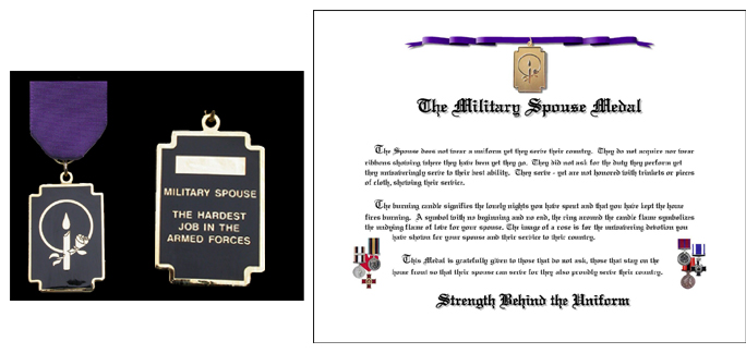 Military Spouse Medal CANADIAN